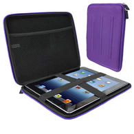 View Item iGadgitz Purple EVA Travel Hard Case Cover Sleeve for Apple iPad 2, 3 &amp; New iPad 4 with Retina Display 16GB 32GB 64GB